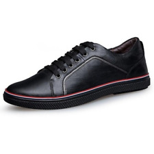 Mens Casual Leather Lace Up Sneakers