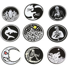 Gothic Sew On Iron On Patch Embroidered Badges Bags Hat Jeans Applique Craft VQ