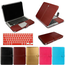 "Keyboard+Leather Case Cover For MacBook Air Pro 11"" 13"" 15"" Retina A1502 A1534"