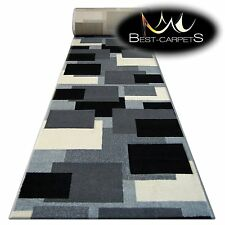 Tapis,Pilly 8404 Crème / Anthracite Moderne Escaliers Largeur 70cm-100cm Extra