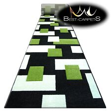 Chemin de Table Tapis,Pilly 7778 Noir / Herbe Moderne Escaliers Largeur