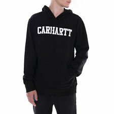 Carhartt Felpe Hooded College Sweat Black/White Nero