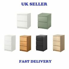 NEW IKEA MALM Chest of 3 Drawers Bedside Table Lovely Colours