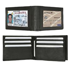 WALLET LEATHER GENUINE CARD HOLDER ID COIN POCKET CREDIT PURSE BIFOLD MEN