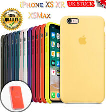 Genuine Official Slim Silicone Case Skin Cover for iPhone XS Max XR 8 7 6s Plus