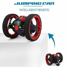 Mini Cars Bounce RC Car Flexible Wheels Rotation Led Light Remote Control Vehic