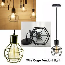 Retro Ceiling Pendant Light Frame Loft Ceiling Pendant Lamp Shade light guard UK