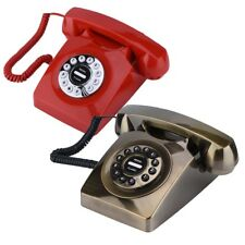 Vintage Antique Telephone Retro Rotary Dial Numbers Storage Landline Telephone