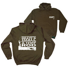 FB Fishing Hoodie - Small Mouth - Novelty Birthday Christmas Gift Hoody Jumper