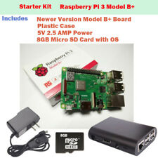 Raspberry Pi 3 Model B+ Quad Core 1GB RAM -STARTER KIT with Case, Power, SD Card