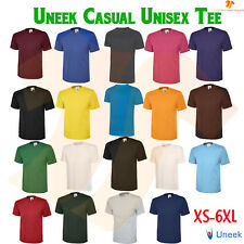 New Mens Womens 100% Cotton 180GSM Classic T Plain Casual Crew Neck T-Shirt