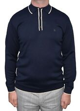 GABICCI VINTAGE NAVY TIPPED POLO SHIRT MOD CLOTHING NORTHERN SOUL MODS