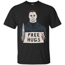 Michael Myers T-shirt Free Hugs Halloween Horror Tee Shirt Short Sleeve S-5XL