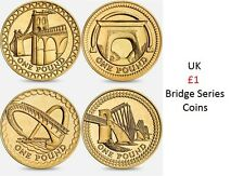 British £1 Coins Bridge Series Round Coin Hunt Millennium Forth Railway Pound
