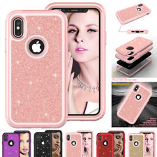 Glitter Bling Shockproof Armor Case for iPhone Xs Max/Xr/X 7 8 Hybrid Cover Skin