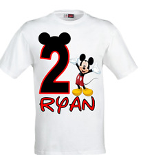 Mickey Mouse Birthday T-shirt-Personalised Mickey Mouse birthday t-shirt.
