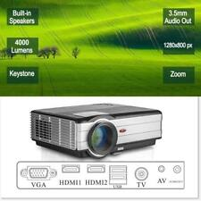 EUG Wireless Bluetooth LED Projector 4500 lumens HD HDMI Airplay Wifi LCD