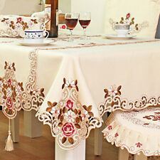 New Embroidered Tablecloth Home Table Decor Lace Rose Cutwork  Table Cover
