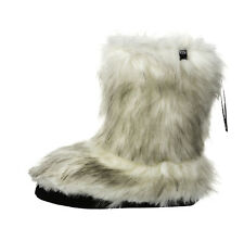Animal NEW bollo sand cream faux fur warm womens winter slippers boots sizes 4-8