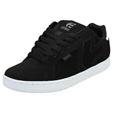 Etnies Fader 2 Mens Black White Leather & Textile Trainers