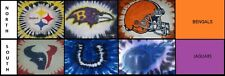 ADULT Handmade Tie Dye shirt - NFL AFC NORTH & SOUTH -ALL TEAMS- STEELERS RAVENS