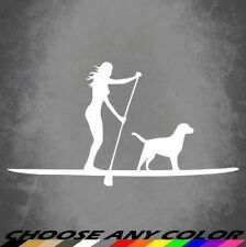 SUP Dog Stand Up Paddleboard Sticker Decal Vinyl For Car Truck Vehicle