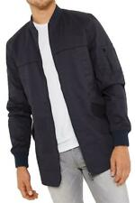 Mens Threadbare Bomber Jacket Quilted MA1 Padded Warm Coat Zip Up Military BUGSY