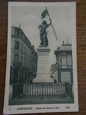 1915 French B/W Postcard COMPIEGNE OISE Northern FRANCE Statue De Jeanne d'Arc