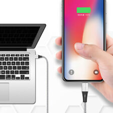 Braided Quick Charging Cable LED Lightning USB Data Sync Cord For iPhone 7 8 X