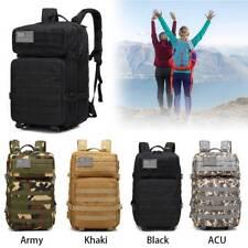 Waterproof Camo Military Tactical Pack Sports Backpack Camping Travel Bag 45L