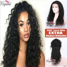 Curly 360 Lace Band Wig Brazilian Remy Human Hair Lace Frontal Wigs Pre Plucked
