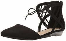 Fergalicious Womens Coco Pointed Toe Ankle Strap Ballet Flats