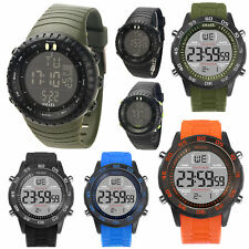 SMAEL Men's Waterproof Sport Army Alarm Date Analog Digital Black Wrist Watches