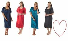 Womens Ladies Satin Nighties Nightdress Nightwear Sleepwear