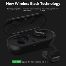 TWS Bluetooth Headset True Wireless Earbuds with QI-Enabled Wireless Charging D