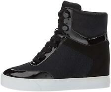 Guess Womens Daylana Leather Hight Top Lace Up Fashion Sneakers