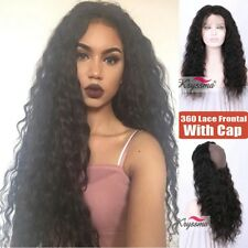 Curly Pre Plucked 360 Frontal Band Brazilian Virgin Remy Human Hair Lace Closure