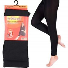 LADIES WOMEN THERMAL LEGGINGS FLEECE LINED WINTER THICK BLACK WITH SOFT BRUSHING