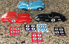 1/32 Strombecker JAG XKE JAG D slot car decal sheets #5 #7