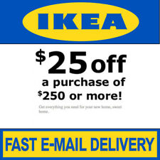 IKEA Coupon $25 Off $250 Valid on ANY Purchase In Store Only Exp 7/12/19 80 Days