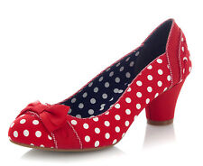 Ruby Shoo NEW Hayley red spots polka dot mid heel womens court shoes sizes 3-9