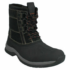 MENS CLARKS LACE UP LEATHER OUTDOOR SNOW WINTER MID CALF BOOTS NASHOBA SUMMIT