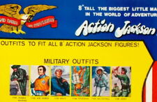 "1971 ACTION JACKSON 8"" mego doll  ARMY AIR FORCE NAVY MARINE - SHIRT PANTS SHOES"