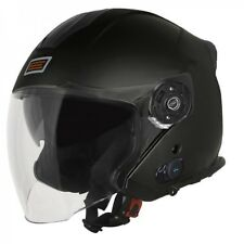 CASCO JET ORIGINE PALIO 2.0 NERO BLUETOOTH CON VISIERA LUNGA NEW