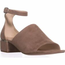 Nine West Womens Yorada Suede Peep Toe Casual Ankle Strap Sandals