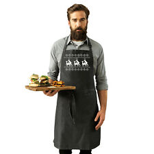 Funny Novelty Apron Kitchen Cooking - Christmas Reindeer Humping Jumper