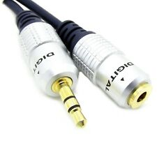 1M- 5M Metre 3.5mm Stereo Jack Headphone Extension Cable Aux Audio Lead OFC GOLD