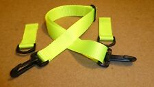 Hi Viz Yellow Fillet Strap and Dee Rings for Exercise Sheet/Rug, Plastic Clips