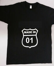 Made in 2001 18° Compleanno Personalizzate T-Shirt American Highway Segno Stile