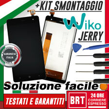 LCD+TOUCH SCREEN TACTIL PARA WIKO JERRY PANTALLA VIDRIO BLANCO NEGRO+KIT